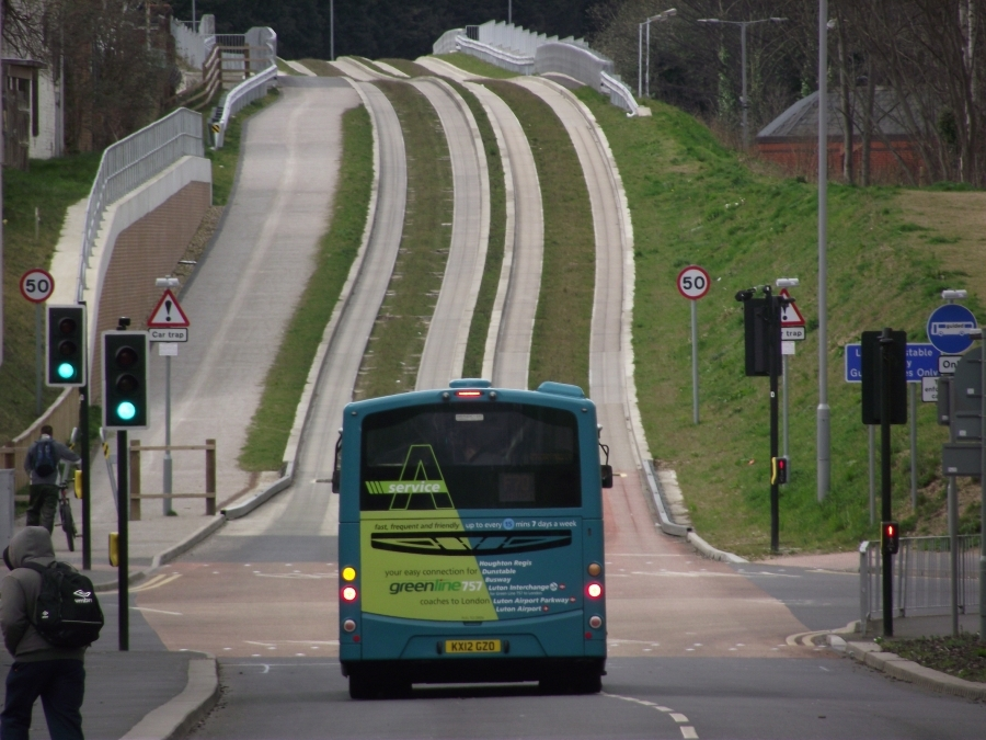 Redvision CCTV protects passengers on the new Luton-Dunstable Busway.