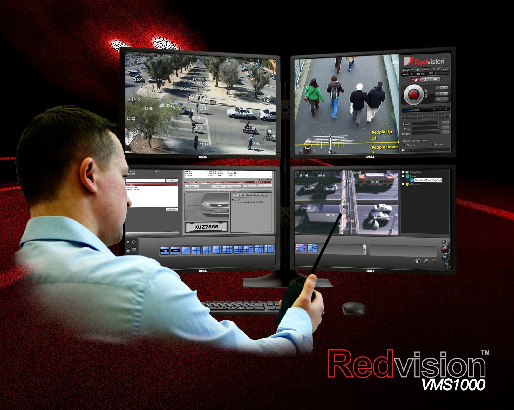 Redvision launches the VMS1000™, open-platform control system, powered by Digifort video management software.