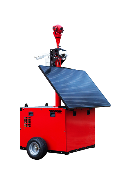 RedCop™ rugged mobile CCTV tower