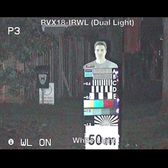 X-Series PTZ (code: RVX18-IRWL) Dual IR + WHITE light: facial recognition at 50m